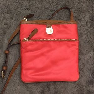 MICHAEL KORS coral kempton large pocket crossbody